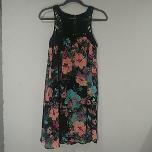 Floral Knee Length Dress